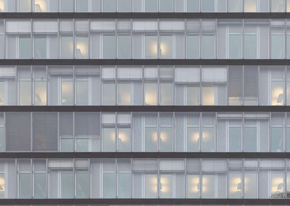 building highrise facade modern office